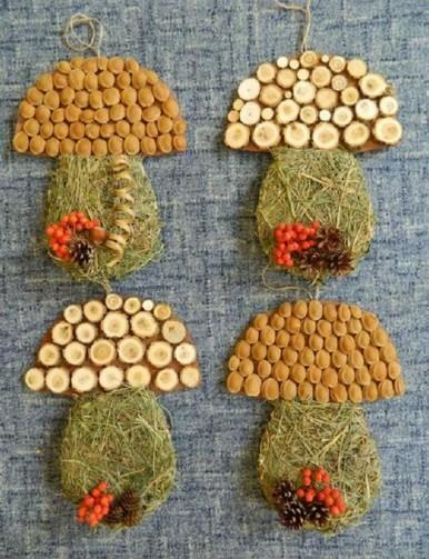 Поделки осенью в детском саду из природного материала