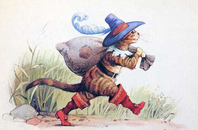 Перро «Кот в сапогах» текст распечатать