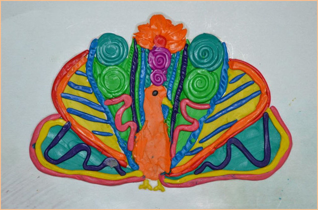 Пластилинография. Цветочные мотивы